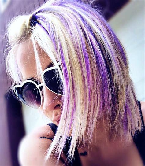 purple highlights in platinum blonde hair pravana paravana vivids lilac hair purple hair light