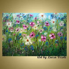 spring painting ideas flowers oil impasto painting modern spring floral by