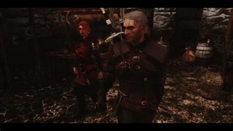 skyrim mod geralt geralt of rivia voiced follower the witcher spanish at