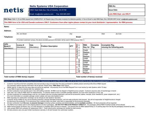 rma request form template list of synonyms and antonyms of the word rma form
