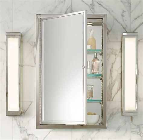 Framed Lit Right Opening Inset Medicine Cabinet