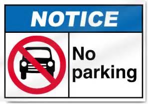 no parking notice sign ebay