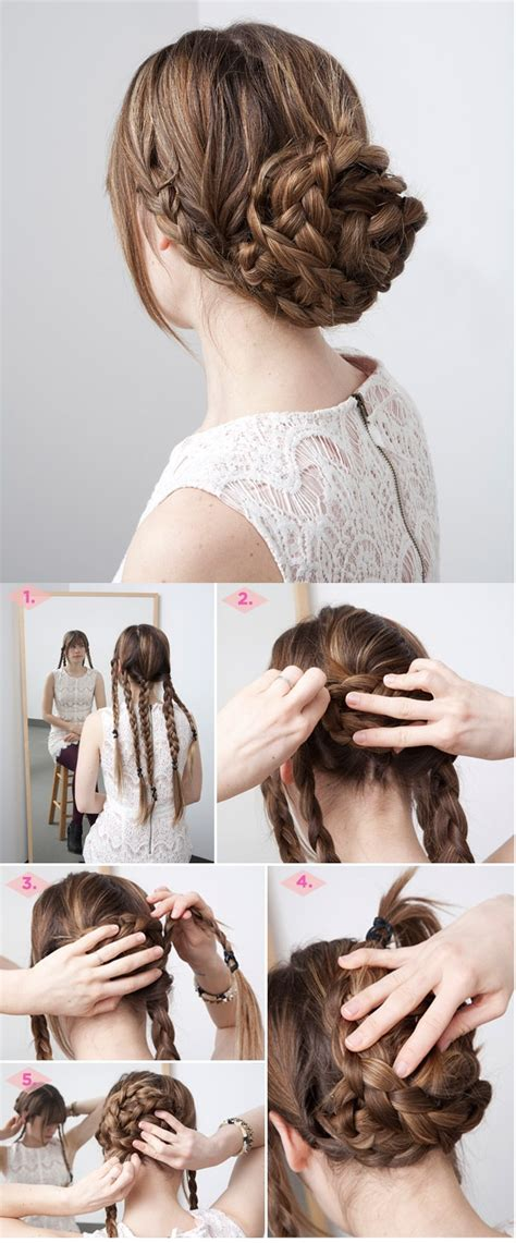 hairstyles for thick hair updos fancy braided updo hairstyle for thick hair hairstyles
