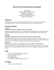 company resume sle bachelor of business administration resume sales