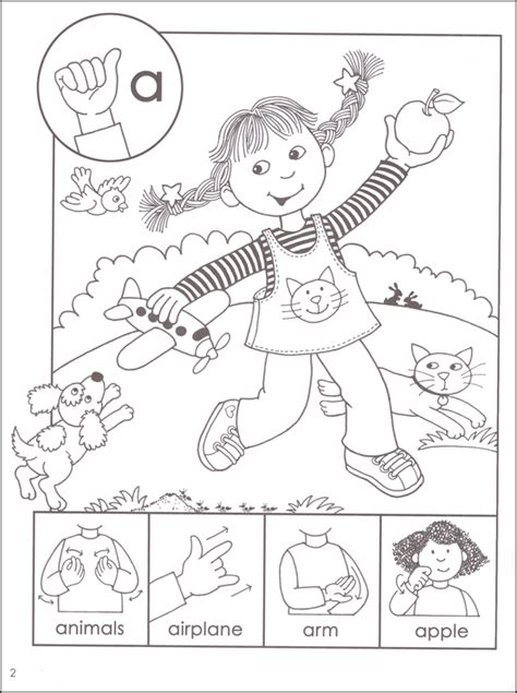 free sign language e coloring pages