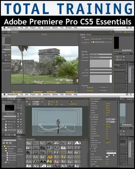 jual tutorial photoshop cs5 adobe premiere pro training total training adobe premiere