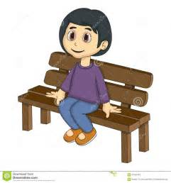 bench sitting sitting on a bench stock vector