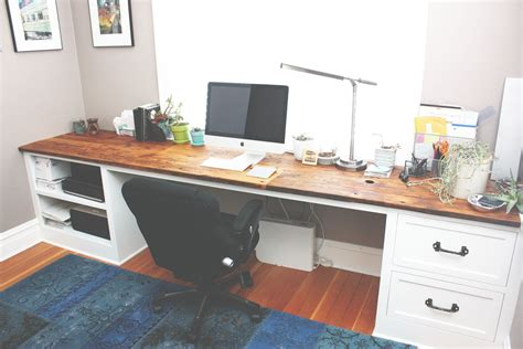 Custom Reclaimed Wood Desk Top With White Painted Poplar White Painted Desk