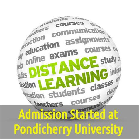 Pondicherry Distance Education Mba Value by Admission Started At Pondicherry For Distance