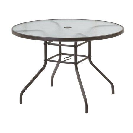Mainstays 42 Quot Glass Dining Table Brown Walmart Com