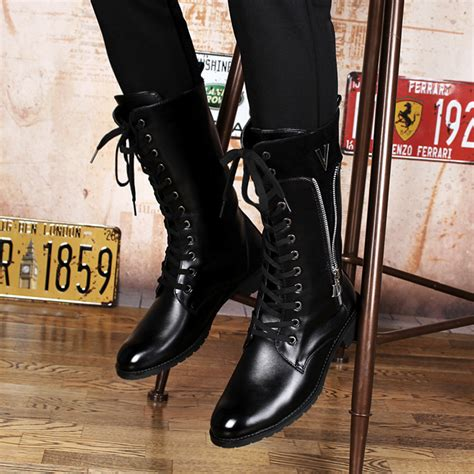 high top motorcycle shoes selling mens high top long boots fashion zipper and
