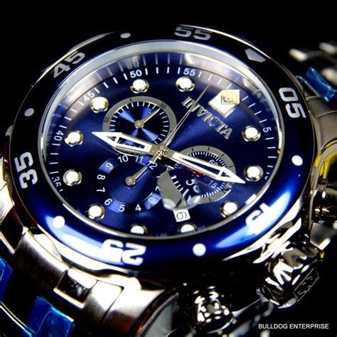 Black With List Scuba mens invicta pro diver scuba silver blue steel chronograph