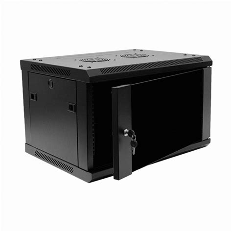 6u it wall mount network server data cabinet rack glass