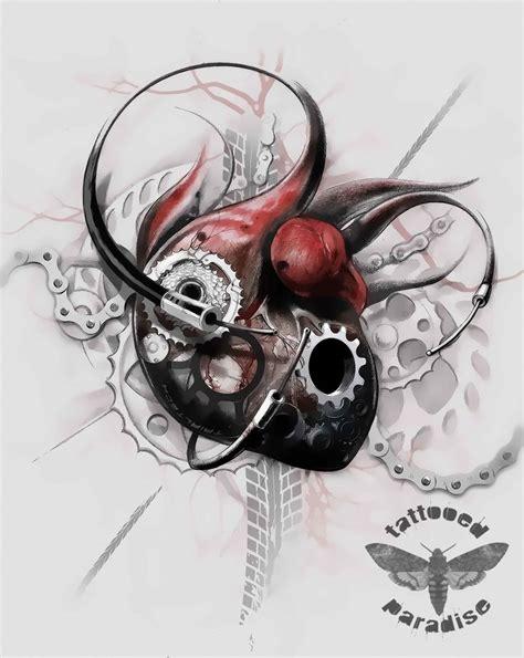 heartbeat bike tattoo 180 best tattoos images on pinterest cycling tattoo
