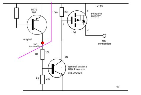 transistor or mosfet running a mosfet from a transistor for a fan controller electrical engineering stack exchange