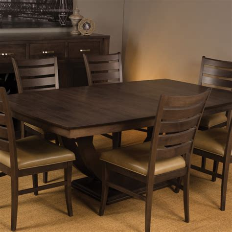 Dining Room Galley 2 Trestle Table Mclearys Canadian Canadian Made Dining Room Furniture