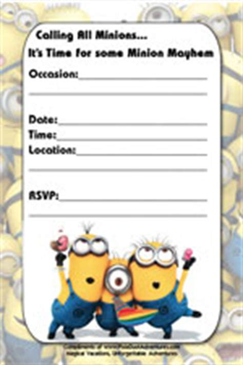 free minion invitation template minion invitations gangcraft net