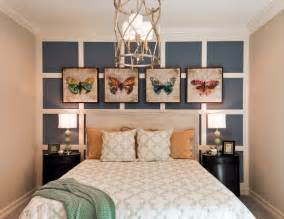 Distressed Wood Bedroom Wall Blue Accent Wall Bedroom Traditional With White Curtains