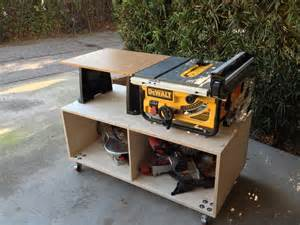 table saw cart saw workstation by 72hw lumberjocks