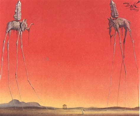 3 Paintings By Salvador Dali by The Elephants Large 1948 Salvador Dali Wikiart Org