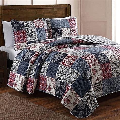 Patchwork Quilt Set - buy elizabeth patchwork quilt set in blue