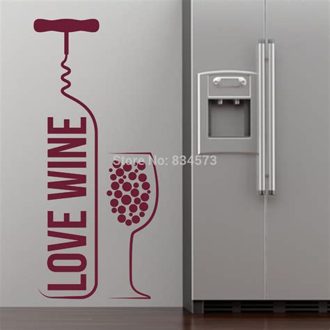 sticker for glass wall wine bottle wine glass wall stickers decal home diy decoration decor wall mural