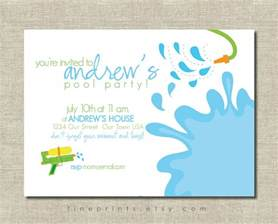 splash swim pool printable invitation