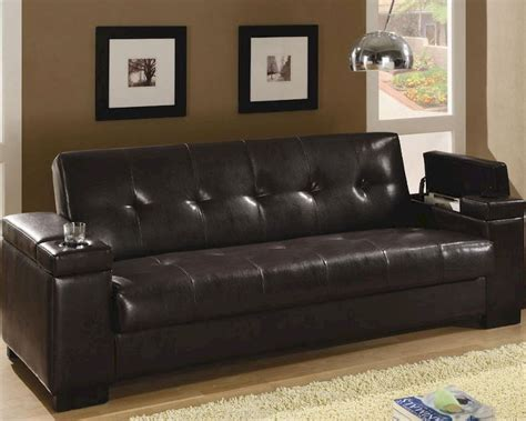 Coaster Furniture Sleeper Sofa With Storage In Dark Brown Coaster Sofa Sleeper