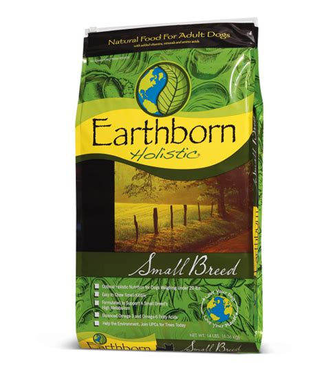 earthborn holistic food small breed holistic food formulas earthborn holistic 174 pet food
