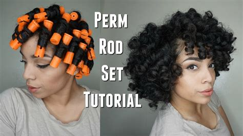how to do a perm rod set on a twa perm rod set heatless curls feat soultanicals youtube