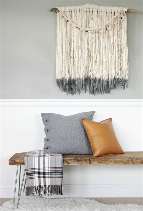 diy mid century bench simple modern farmhouse holiday bedroom