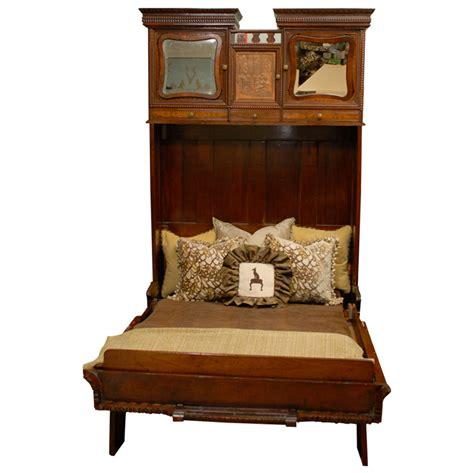 murphy bed nyc rare murphy bed of mahogany new york circa 1885 at 1stdibs