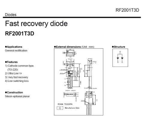 rf2001 fast recovery diode