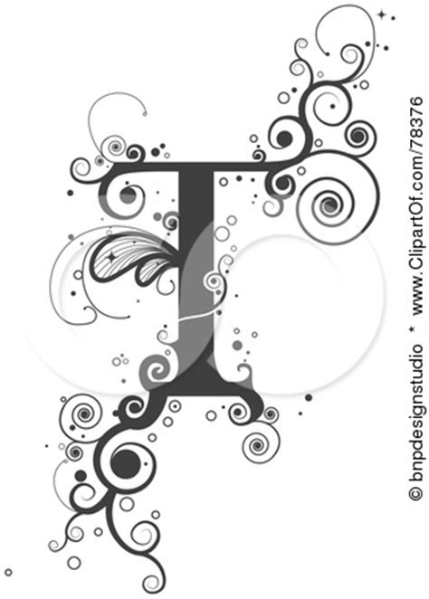tattoo fonts letter t clipart of the letter t bing images my style