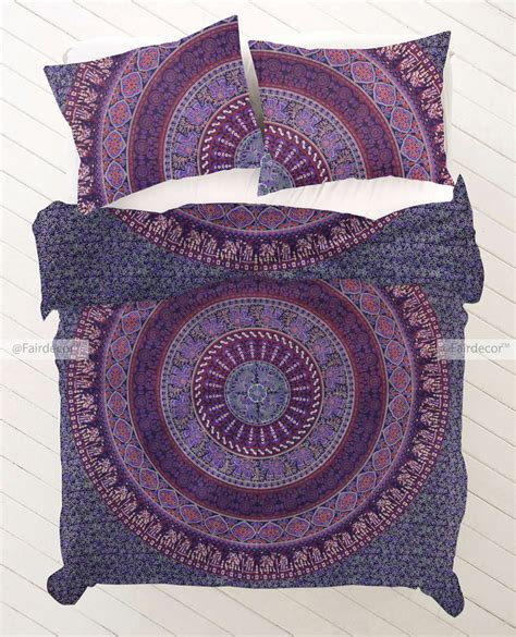 mandala bedding blue purple elephant bohemian mandala bedding bed sets and