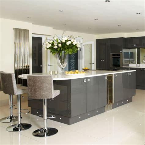 sleek kitchen sleek grey kitchen kitchen housetohome co uk