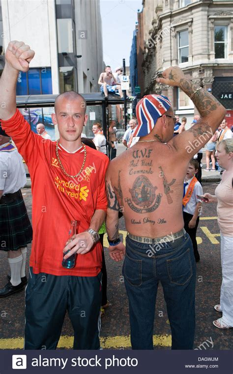 uvf tattoo pictures 12th july 2013 belfast uk two men at the twelfth of july
