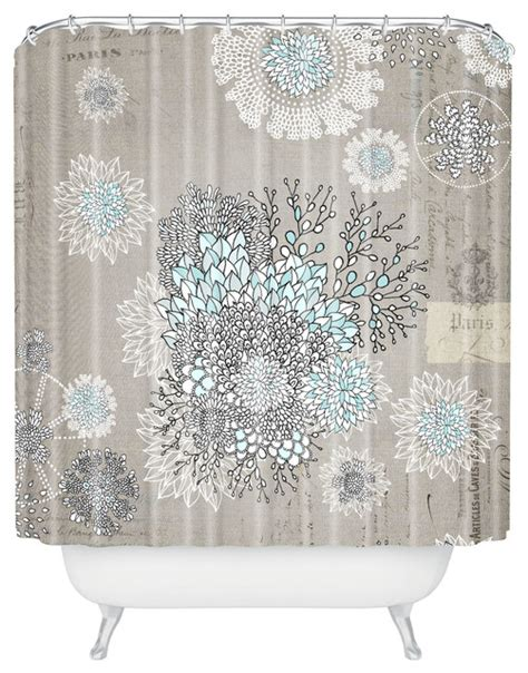 Iveta Abolina French Blue Shower Curtain Contemporary