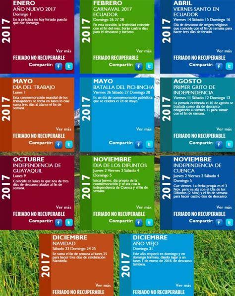 feriados ecuador 2016 calendario feriados ecuador 2017