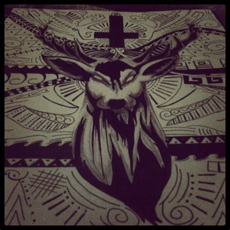 antichrist cross tattoo jagermeister anti by brutalityrythm