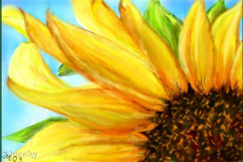 sunflower head  plants speedpaint drawing