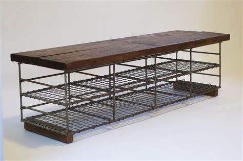 bench stores uk vintage industrial storage bench bring it on home
