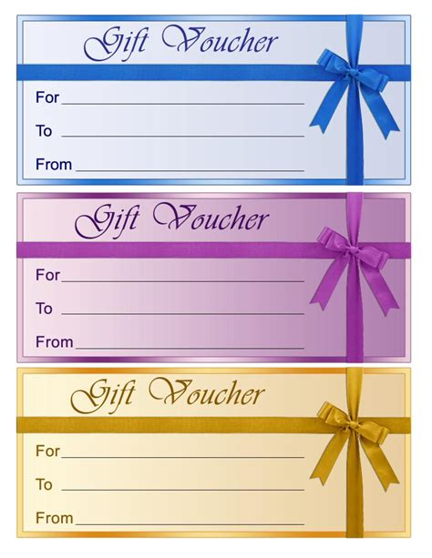 free gift card template colorful blank gift voucher template exle by efs16845