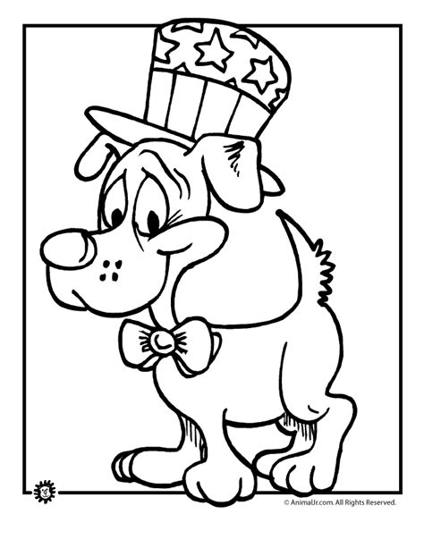 patriotic puppy 4th of july coloring page woo jr kids