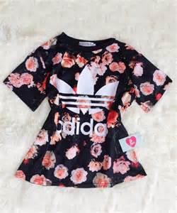 Blusa floral adidas blusas tops vestu 225 rio