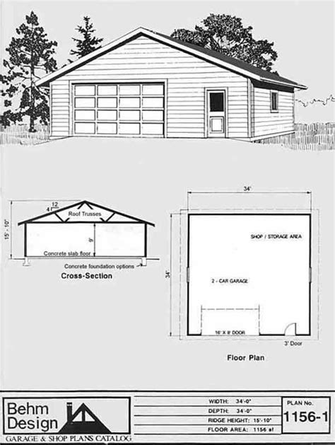 025 oversized 6 car garage oversized two car garage with shop space plan 1156 1 34 x