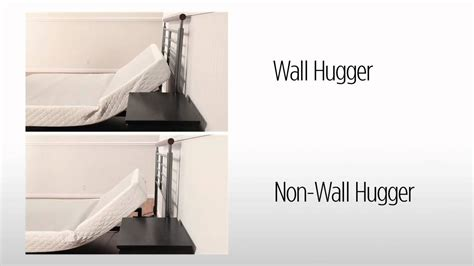 symphony wall hugger adjustable bed from sleep comfort