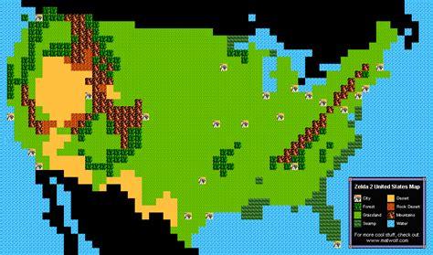 legend of zelda ii map zelda 2 u s map yum yum matt