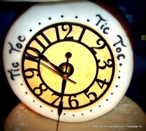clock ring themes peter pan themed baby shower cake actual cake with