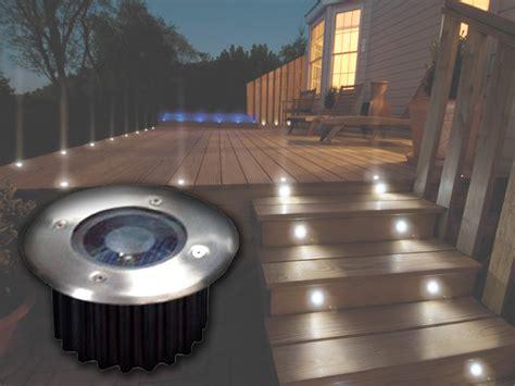 solar powered deck lights outdoor 2 6 10 bright white led solar powered garden decking deck